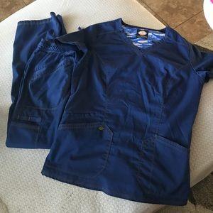 Dickies navy blue scrubs sz S